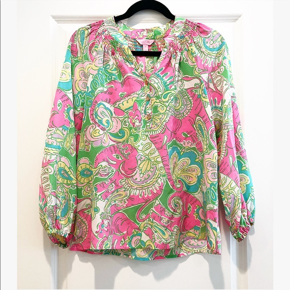 e65274bf47c8cd Gorgeous Lilly Pulitzer Silk Blouse